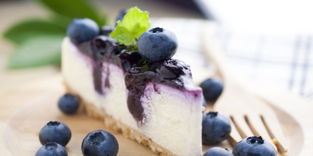 Blueberry cheesecakes